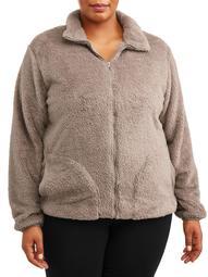 BSP Women's Plus Zip Front Fleece Jacket