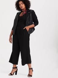 Black Premium Ponte Culotte Jumpsuit