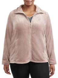 360Air Women's Plus Size Active Super Soft Plush Jacket
