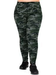 Athletic Works Women's Pus Size Active Moisture Wicking Camo Legging