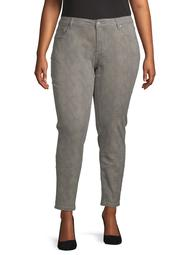 Alivia Ford Women's Plus Size Snakeskin Print Jean