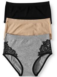 Abs by Allen Schwartz Women's annabel seamless brief panties - 3 pack