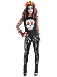 Amscan Adult's Day of The Dead Plus Size T-Shirt, Plus Size By CostumesUSA