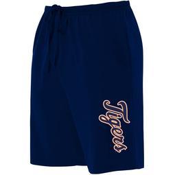 Detroit Tigers Majestic Women's Plus Size Jersey Long Shorts - Navy