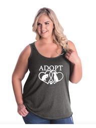 Adopt Rescue Animal Women Curvy Plus Size Tank Tops