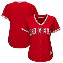 Los Angeles Angels Majestic Women's Alternate Plus Size Cool Base Team Jersey - Scarlet