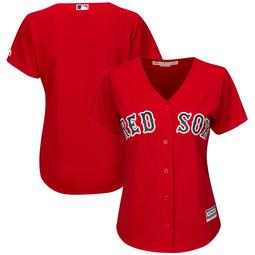 Boston Red Sox Majestic Women's Alternate Plus Size Cool Base Team Jersey - Scarlet