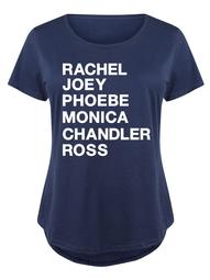 Rachel Joey Phoebe Monica Chandler Ross  - Ladies Plus Size Scoop Neck Tee