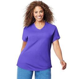 90563049356 Cotton Jersey Short-Sleeve V-Neck Womens Tee Shirt - LW, 4X