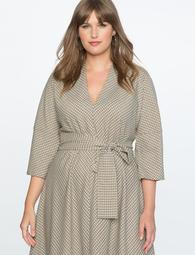 Belted Dolman Sleeve Dress