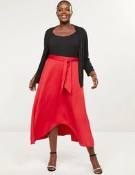 High-Low Midi Skirt