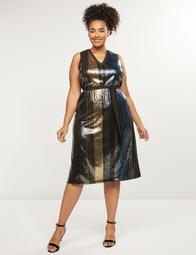 Striped Sequin Midi Dress
