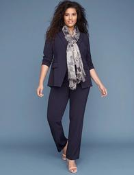 Allie Tailored Stretch Straight Leg Pant with Grosgrain Trim Pockets