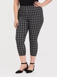 Ankle Pencil Skinny Trouser - Black Plaid