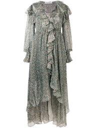 animal print ruffle dress