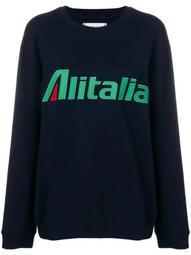Alitalia patch sweatshirt