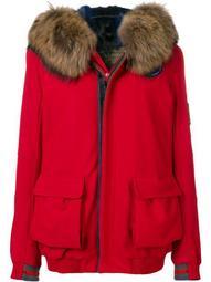 Arctic fur-trimmed hooded jacket