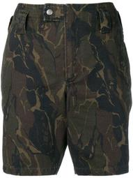 camouflage printed shorts