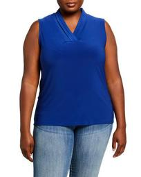 Plus Size Triple Pleated Top