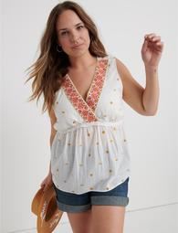 Embroidered Romantic Top