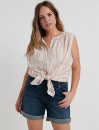 Striped Sleeveless Shirt