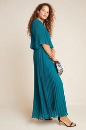 Corey Lynn Calter Pleated Maxi Dress