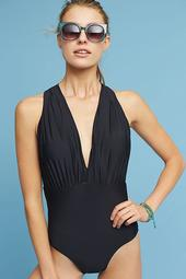 Anthropologie Plunge One-Piece Swimsuit