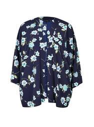 **DP Curve Navy Floral Kimono