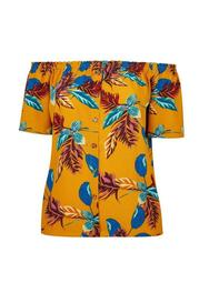 **DP Curve Multi Colour Palm Print Bardot Top