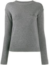 logo embroidered crewneck sweatshirt