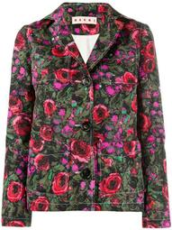 floral single breasted blazer
