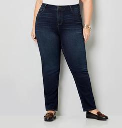 5 Pocket Straight Leg Knit Denim in Rinse