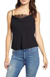 Lace Inset Cowl Camisole