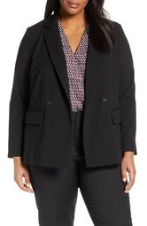 9-to-5 Double Breasted Stretch Blazer