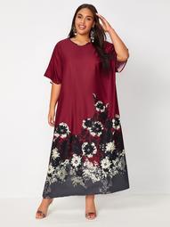 Plus Floral Tunic Dress