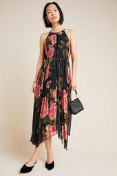 Emeline Pleated Midi Dress