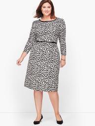 Refined Ponte Dress - Leopard