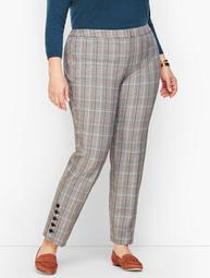 Plus Size Talbots Hampshire Button Hem Ankle Pants - MacIntosh Plaid