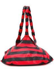 striped Pyramid shoulder bag