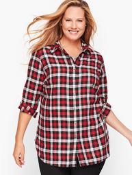 Classic Cotton Shirt - Red Pop Plaid
