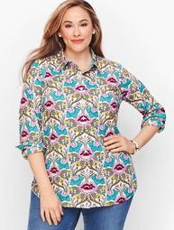 Classic Cotton Shirt - Autumn Floral