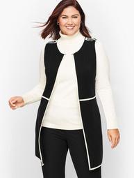 Plus Size Milano Knit Tipped Vest