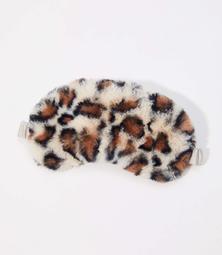 Leopard Print Faux Fur Eye Mask