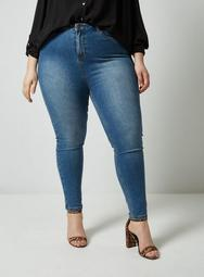**DP Curve Midwash High Waisted Disco Jeans