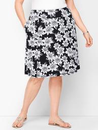 Tropical Dots Slub Skirt