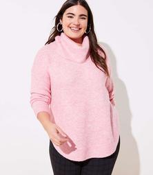 LOFT Plus Cowl Neck Poncho Sweater