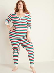 Plus-Size Thermal Lounge One-Piece