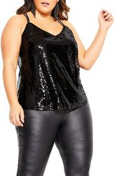 Glimmer Top Sequin Camisole