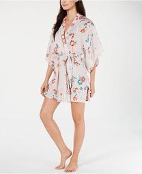 By Natori Lotus Boutique Washed Satin Wrap Robe
