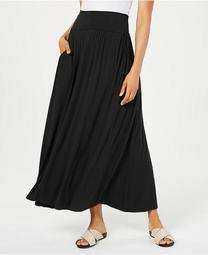 Petite Knit Maxi Skirt, Created for Macy's